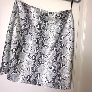Snake skin leather skirt
